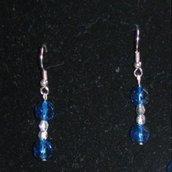 Orecchini argento/blu