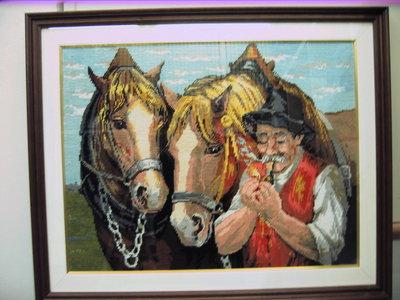 nonno con cavalli