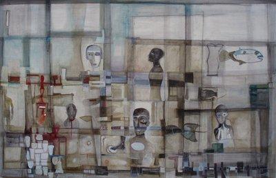 Teatro - olio su tavola - 140x90 - anno 2012