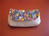 Pochette lino/cotone
