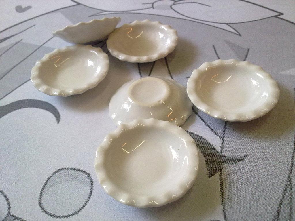 """Piatto in ceramica bianco """"fondo"""""""