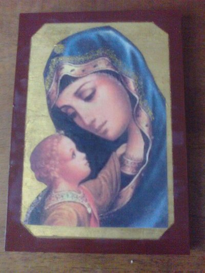 Madonna su foglia oro