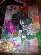 ROSA E GRAZIE  tutta decorata fatta a mano ,ottima come idea Regalo