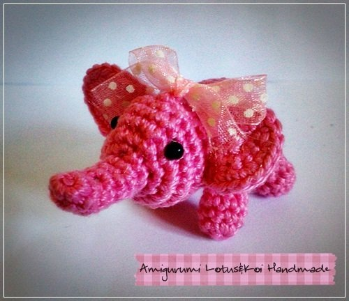 Elefantino Amigurumi Portachiave