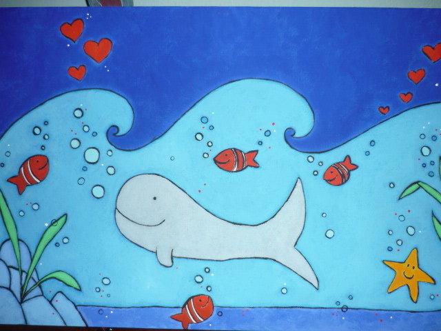 Incanto (sopra e) sotto il mare - Quadro per bambini