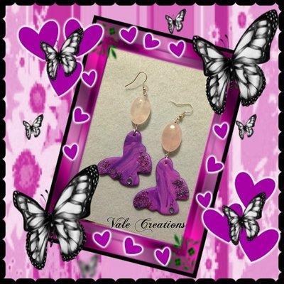 Orecchini farfalle in fimo