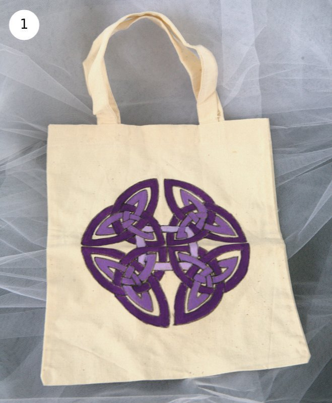 Mini Shopping Bag con nodi celtici - Offerta speciale!
