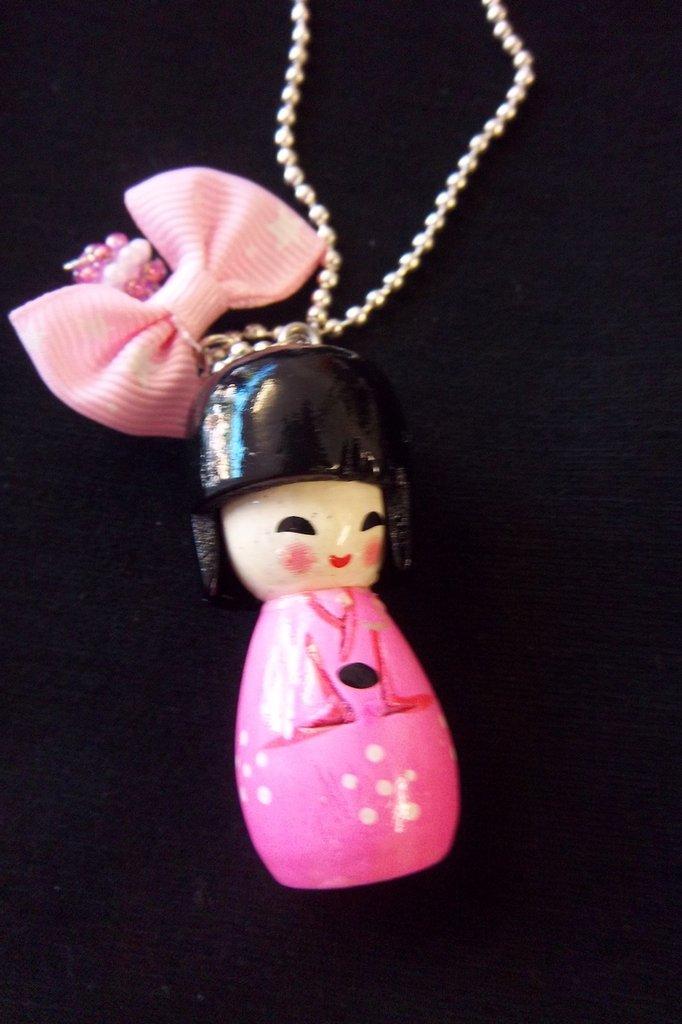 collana Bambola Giapponese Kokeshi