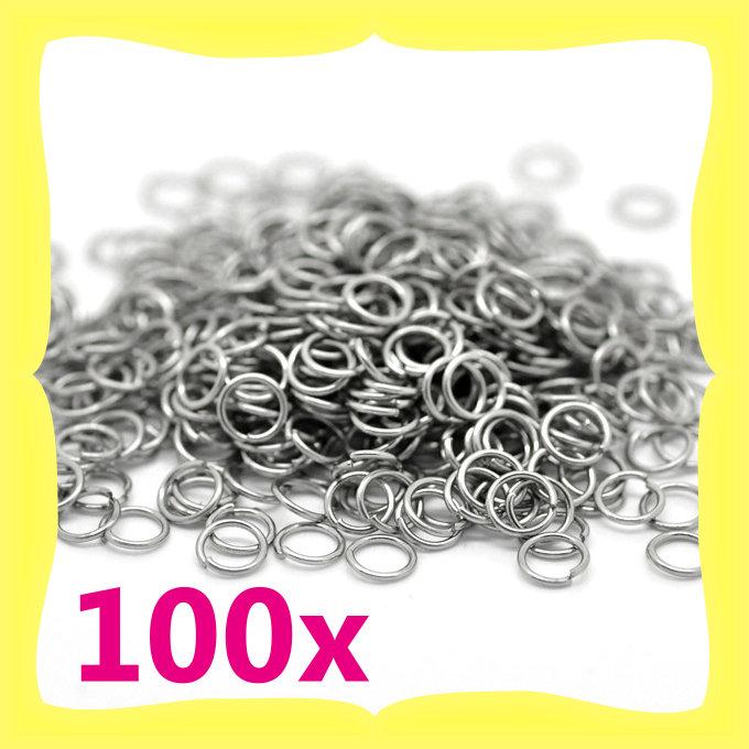 100 anellini acciaio inossidabile 5mm