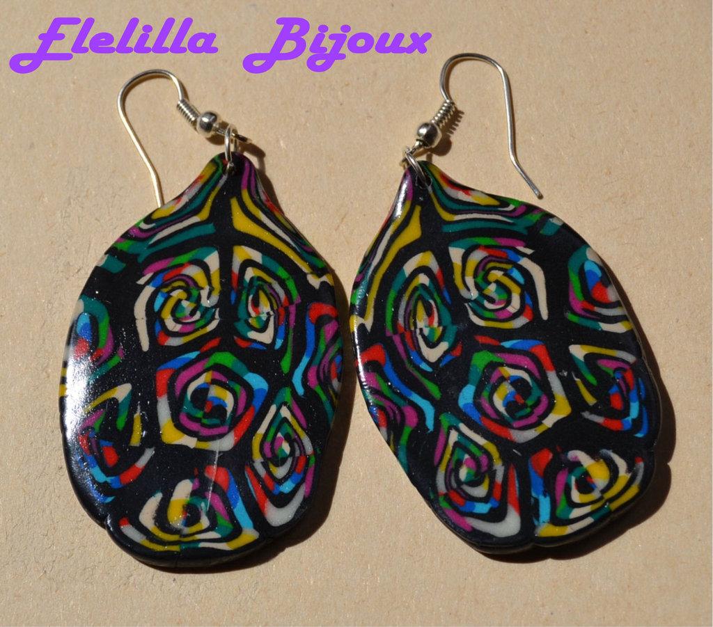 orecchini  etnici  multicolor