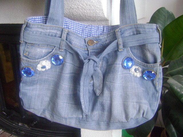 borsa ricavata da jeans