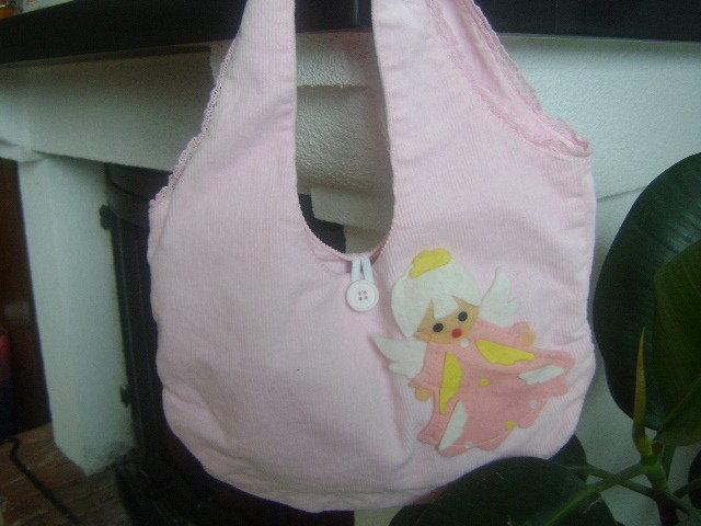 borsa tela rosa