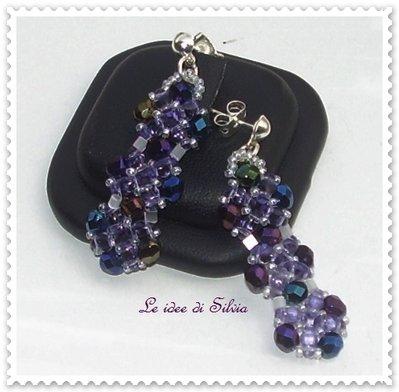 Orecchini di perline Iris Blu