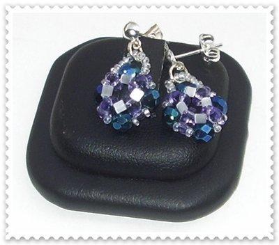 Orecchini Iris Blu