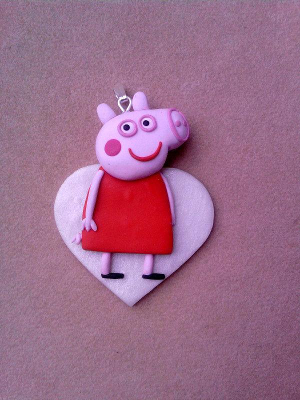 Ciondolo con Peppa Pig fimo