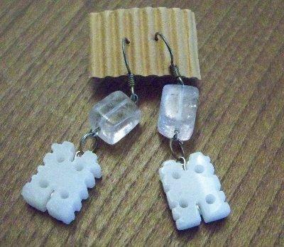 Orecchini con piccole pietre, home made