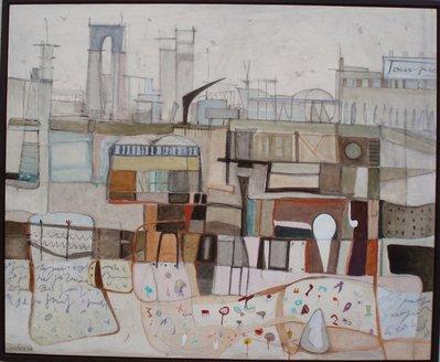 Cartoline da Faenza - olio su tavola - 100x82 - anno 2012