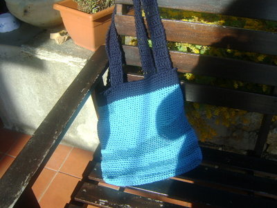 borsa a sacco turchese