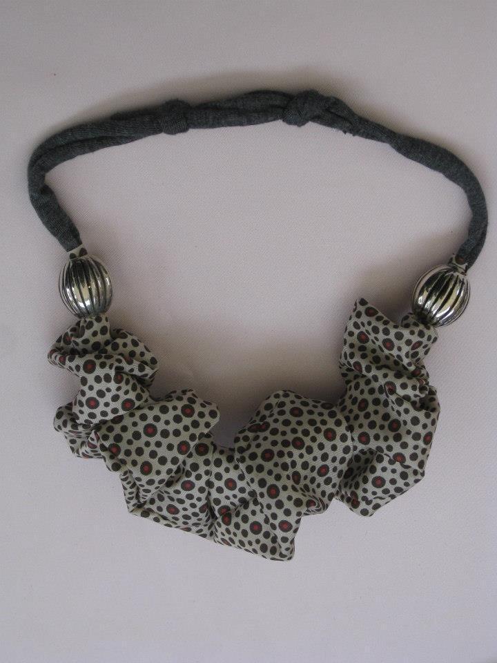 Collana fettuccia e stoffa gioielli collane di lusilane su misshobby - Collane di design ...