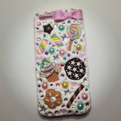Cover iPhone 5 con dolcetti vari strass perle