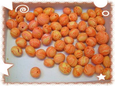 25 mix. Perline in fimo, lavorate a mano, colore come da foto
