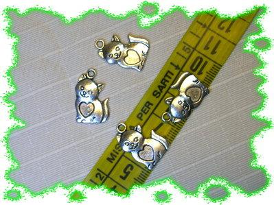 4 deliziosi gattini in argento tibetano