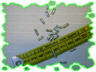 50 tubicini in argento tibetano modello etnico