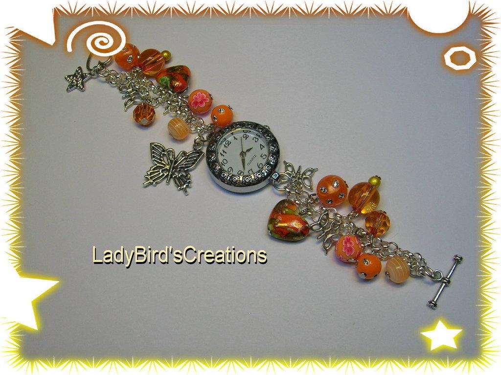 Orologio bracciale  con charm pendenti