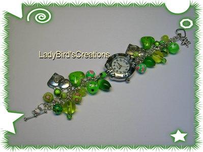 Orologio bracciale con charm pendenti - VERDE -