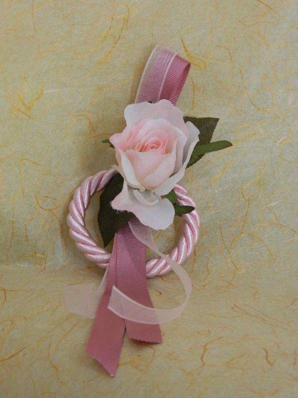 Anello cordone seta rosa