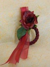 Anello cordone seta rosso