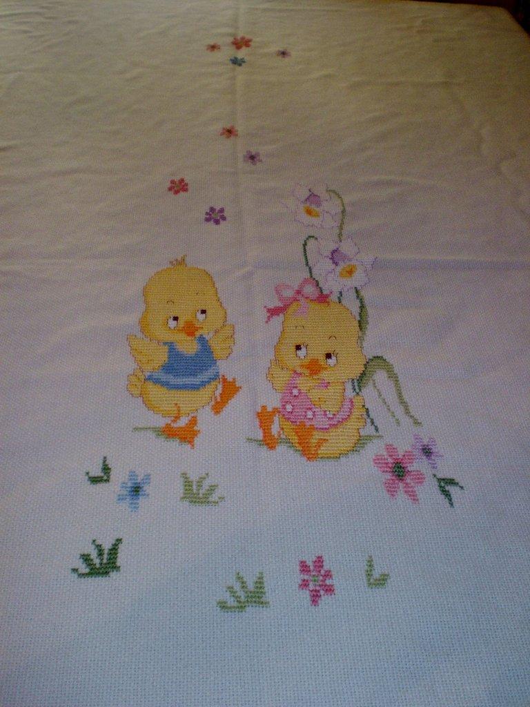 Copertina punto croce bambini per la nanna di l 39 arte for Neonati da colorare e stampare