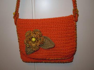 borsa in fettuccina arancione