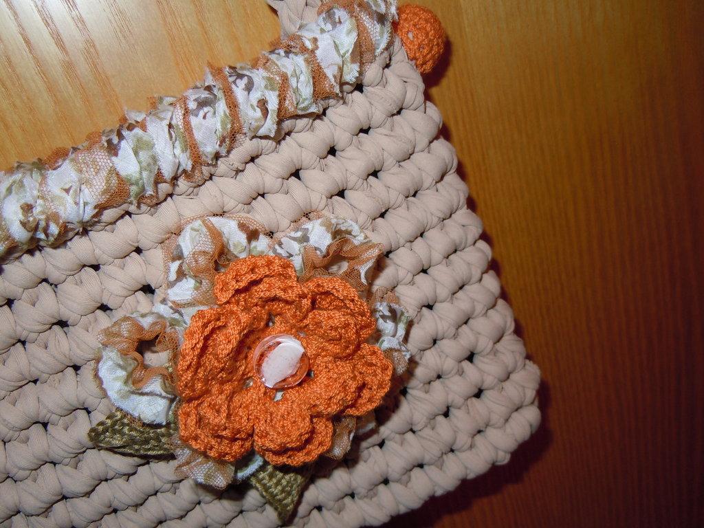 borsetta fettuccia beige