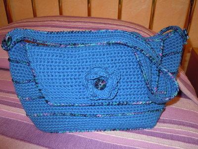 borsa cotone turchese