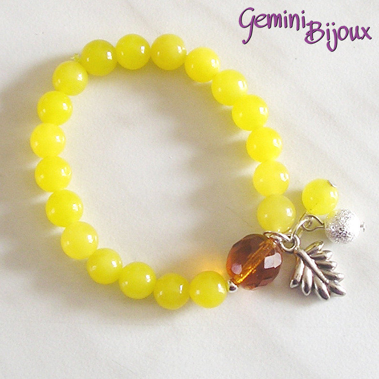 Bracciale elastico Lemon Jade