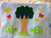 Porta pigiamino in feltro e cotone per il lettino del tuo bambino
