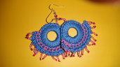 orecchini azzurri zingara