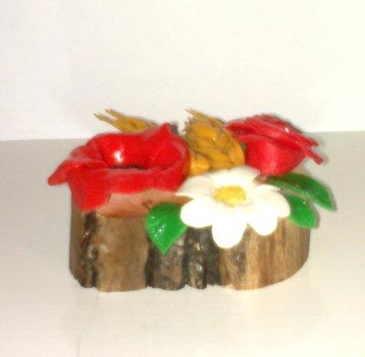 Centrotavola tronchetti fiori&frutta