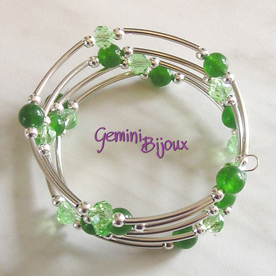 Bracciale armonico Green Jade