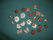 Ciondoli in STILE THUN - fiori farfalle coccinelle - BOMBONIERE