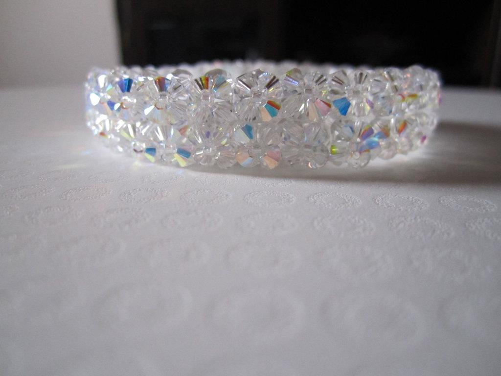 15 Bracciale swarovski mille fiori doppio crystal ab