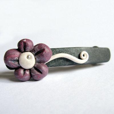 Fermacapelli Fiore Viola