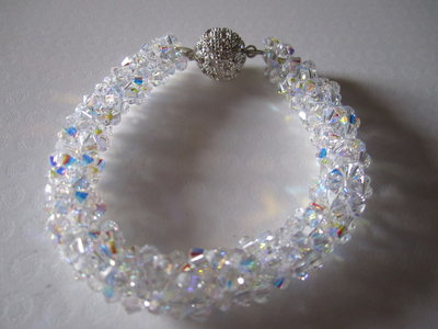 21 Bracciale Torchon swarovski crystal ab