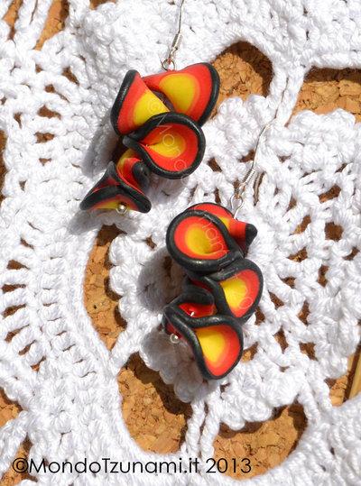 Orecchini Pendenti Multicolore in Fimo