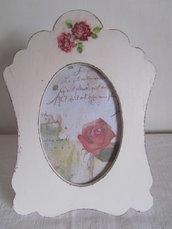 Cornice porta foto in stile shabby romantico