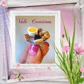 """Anello miniature in fimo """"Tea Time"""""""