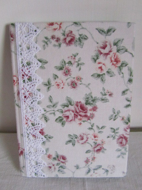 Quaderno rivestito con tessuto vintage inglese stile shabby