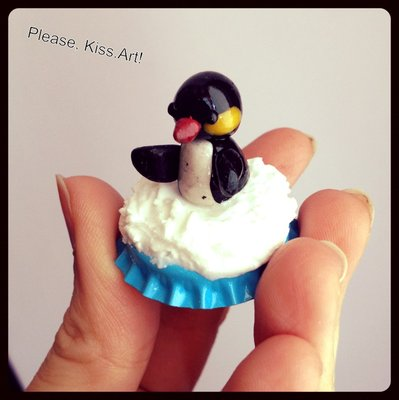 Crazy Animals: tqppo con pinguino su neve.