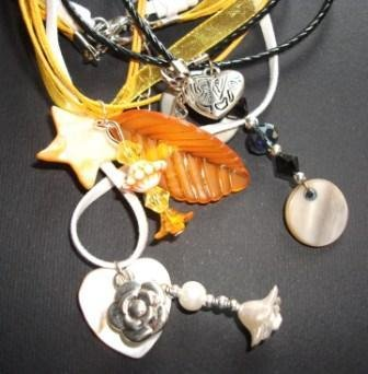 Collane con pendente in madreperla - SpringNight^^ - handmade